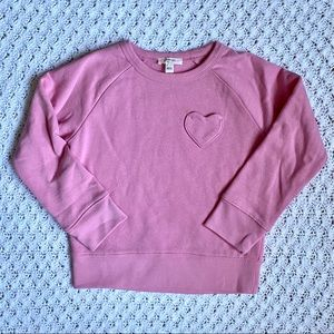 Crewcuts heart pocket crewneck sweatshirt- NWOT